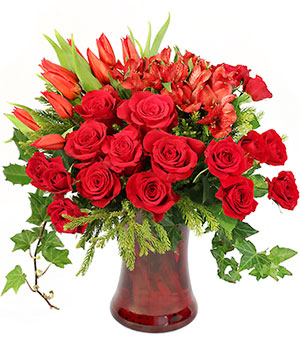 Cupid's Christmas Floral Design in San Rafael, CA | BURNS FLORIST