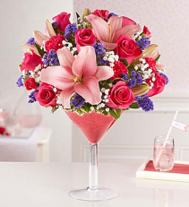 Cupids Cosmo Martini Arrangement
