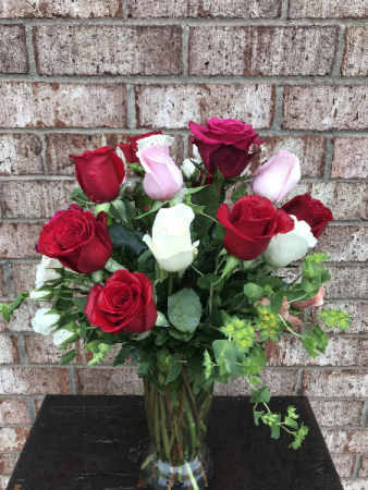 Cupid's Creation with Mixed Roses