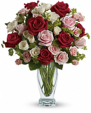 Cupid's Creation With Red Roses
