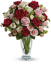 Cupid's Creation with Red Roses Bouquet