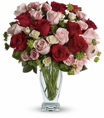 Cupid's Creation with Red Roses by Teleflora VASE ARRANGEMENT