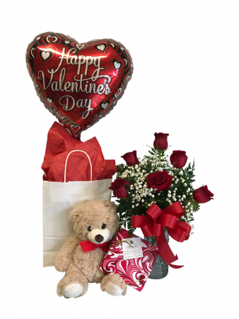 Cupid's Embrace Package with Bear