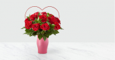 Cupid's Heart™ Red Rose Bouquet