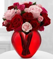 Cupids Heart Rose Arrangement