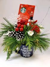 Cuppa Holiday Cheer Arrangement