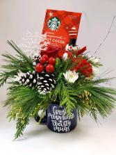 Cuppa Holiday Cheer Arrangement