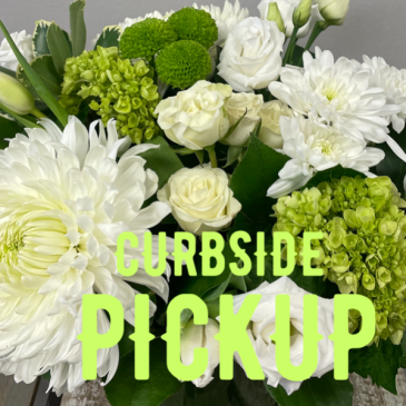 CURBSIDE PICKUP Our designers will create a beautiful arrangement for you.  If you have a favourite colour or flower in mind please let us know in the special instruction box when you order.  We will do our best to create something special just for you.