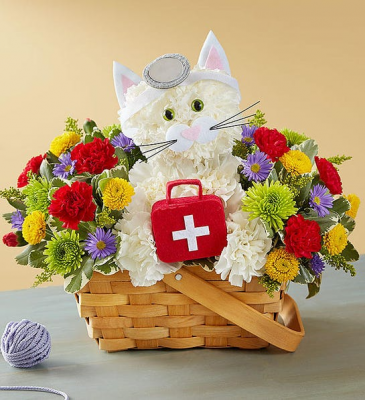 Cure-All Kitty Floral Arrangement