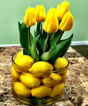Make Lemonade from your lemons Encouragement Arrangment in Galveston, TX | J. MAISEL'S MAINLAND FLORAL