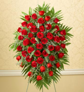 Custom ALL Rose Standing Spray Sympathy