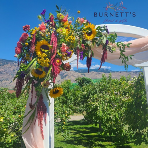 Custom Archway Spray Arrangement in Kelowna, BC | Burnett's Florist