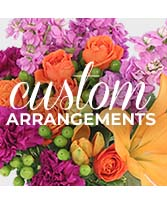 CUSTOM ARRANGEMENT of Fresh Flowers