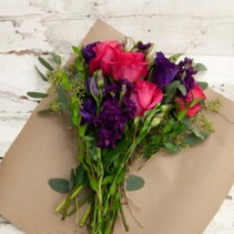 Custom Beautiful Wrapped Bouquet  Garden Style