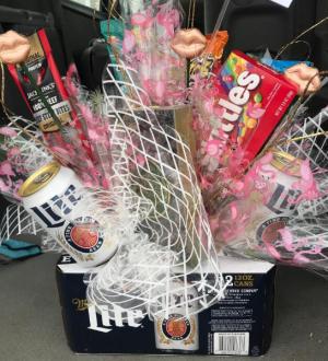 Custom Beer and Snack Basket Gift Basket in Port Aransas, TX | The Floral Reef