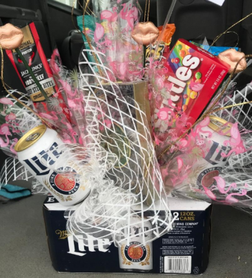 Custom Beer and Snack Basket Gift Basket