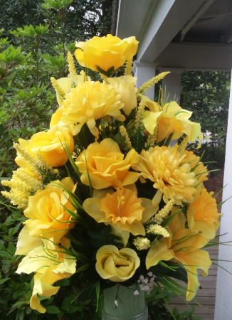 Custom Cemetery Cone Silk Cemetery Arrangement