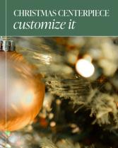 Custom Christmas Centerpiece Flower Arrangement