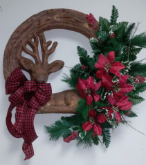 Custom Christmas Deer Wreath Christmas Wreath