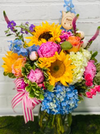 Custom colorful arrangement  Custom designs