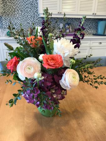 Custom Country Garden Spring Flower Arrangement