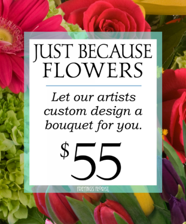 Custom design Variety of colorful flowers attractively designed
