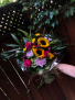 Sunny Hand-tied bouquet 3 sided bright colours
