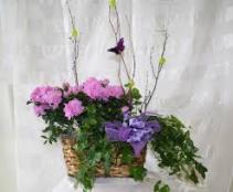 Custom designed plant basket