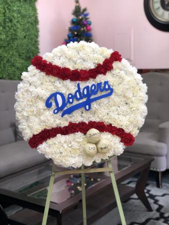 Dodgers Baseball Arrangement Custom Design