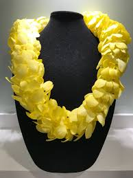 CUSTOM DOUBLE YELLOW LEI GRADUATION LEI