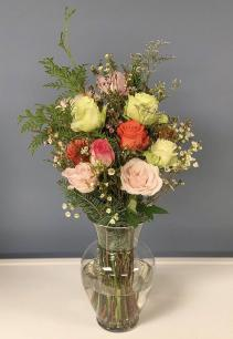 Custom Dozen Roses Vase Arrangement