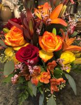 Custom Fall Arrangement Vase