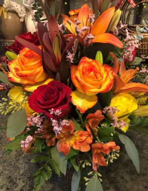 Custom Fall Arrangement Vase in Bristol, VT | Scentsations Flowers & Gifts