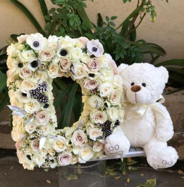 Custom Floral Letter & Design   Pre-order for next day delivery