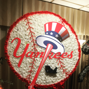 Custom funeral arrangement  Original yankee logo in Ozone Park, NY | Heavenly Florist