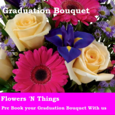 Custom Graduation Bouquet Fresh Arrangement
