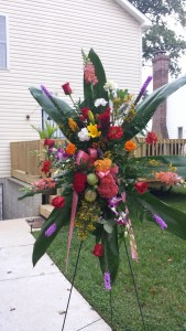 Custom Made Standing Spray Funeral Flowers Online