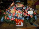 Custom NFL Team (TB 29) Funeral Basket