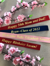 CUSTOM RIBBON PERSONALIZED RIBBON ADD-ON