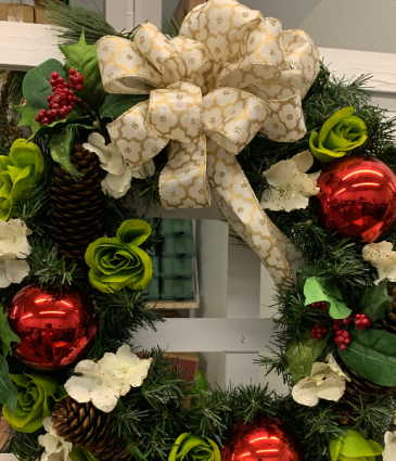 "Custom silk wreath 18 "" 24"" 30"""
