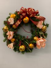 Custom silk wreath 24