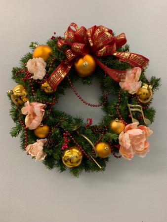 "Custom silk wreath 24"""
