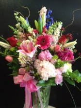 Custom spring mix of premium flowers