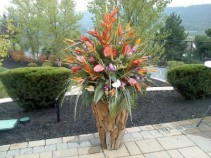 CUSTOM TROPICAL ARRANGEMENT CUMTOM FUNERAL