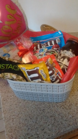 Customize a Valentine  Goodie Basket