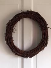 Custom Wicker Wreath Silk Arrangement