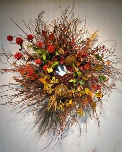 Custom Wreath  Silk