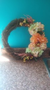 Custom Silk Wreath