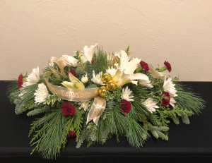Customized Rectangular Table Holiday Centerpiece in Boise, ID | HEAVENESSENCE FLORAL & GIFTS