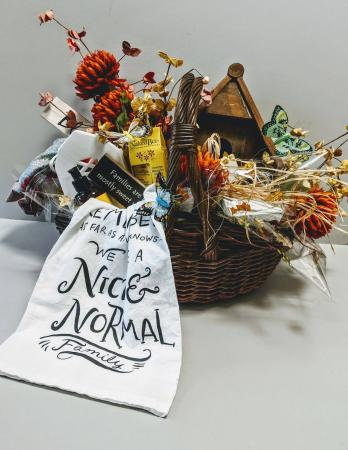 Customized Seasonal Decor Basket Gift Basket